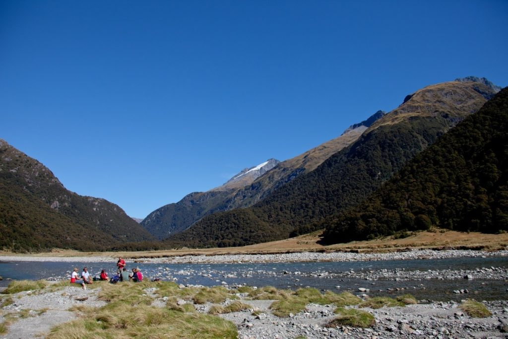 Hiking in the Siberia Valley, Mt Aspiring National Park