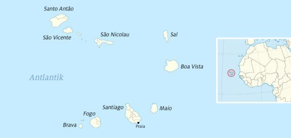 Karte Kapverden