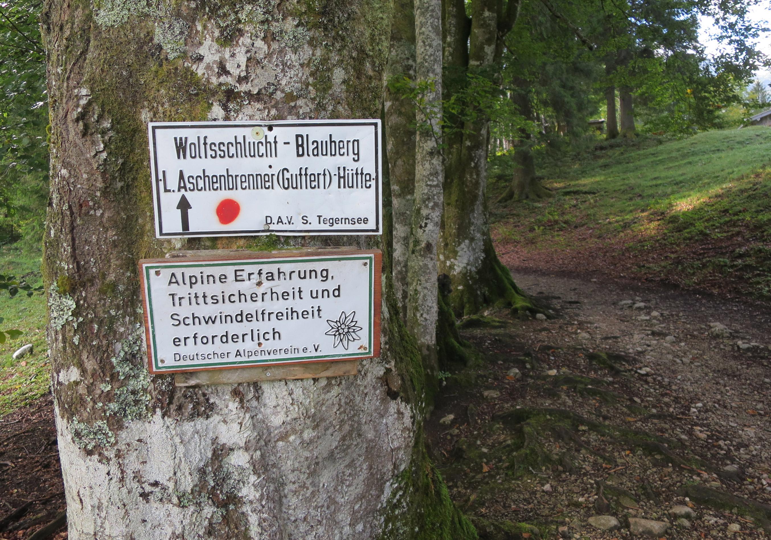 Schild: Alpine Erfahrung
