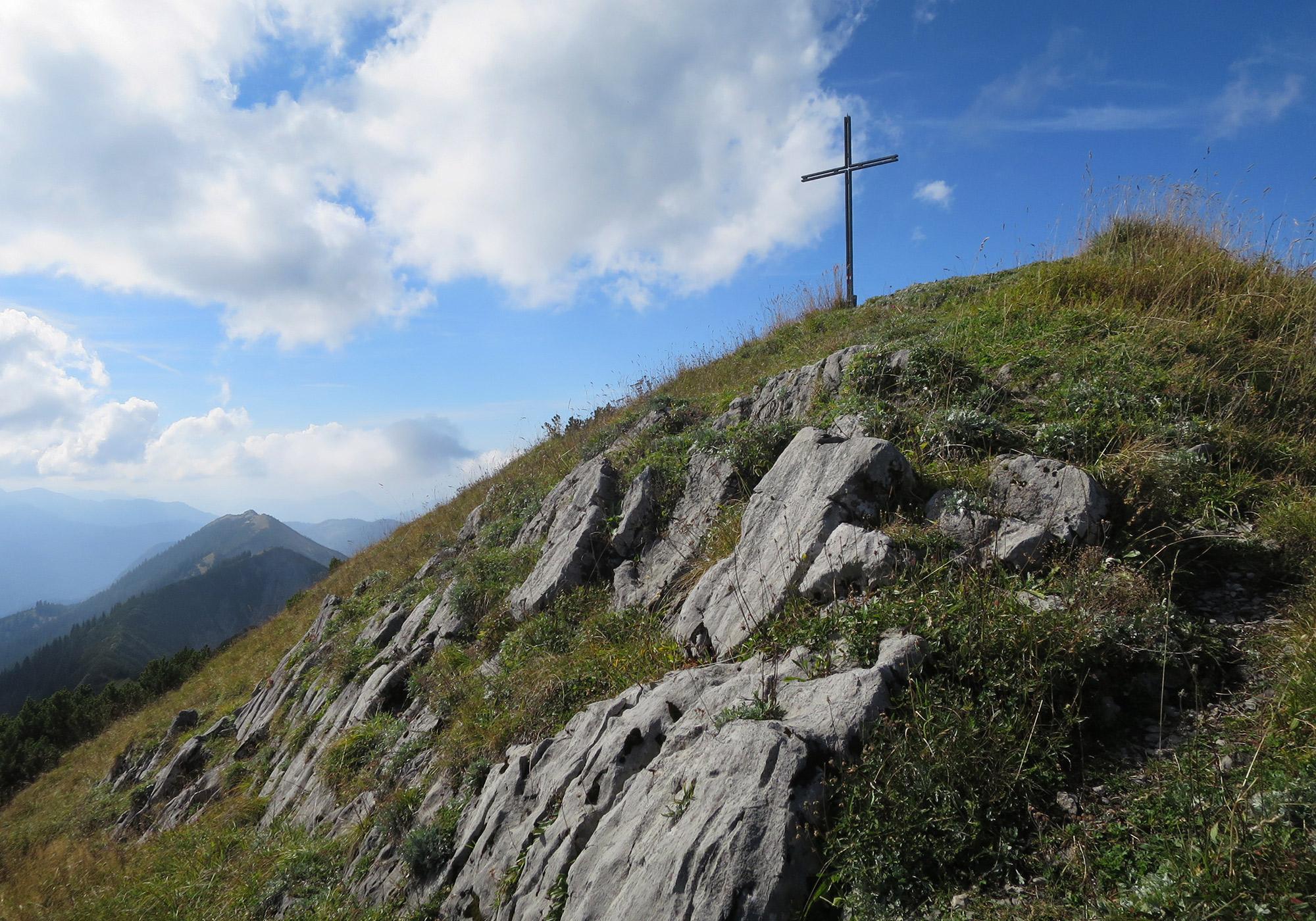 Gipfelkreuz Halserspitze (1.862m)