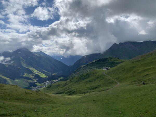 Blick zurück zur Bergstation