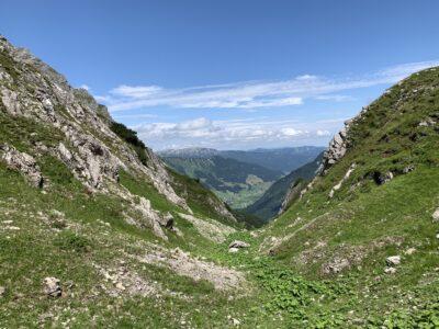 Blick hinüber nach Mittelberg (Kleinwalsertal)